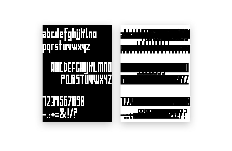 major minor typeface poster