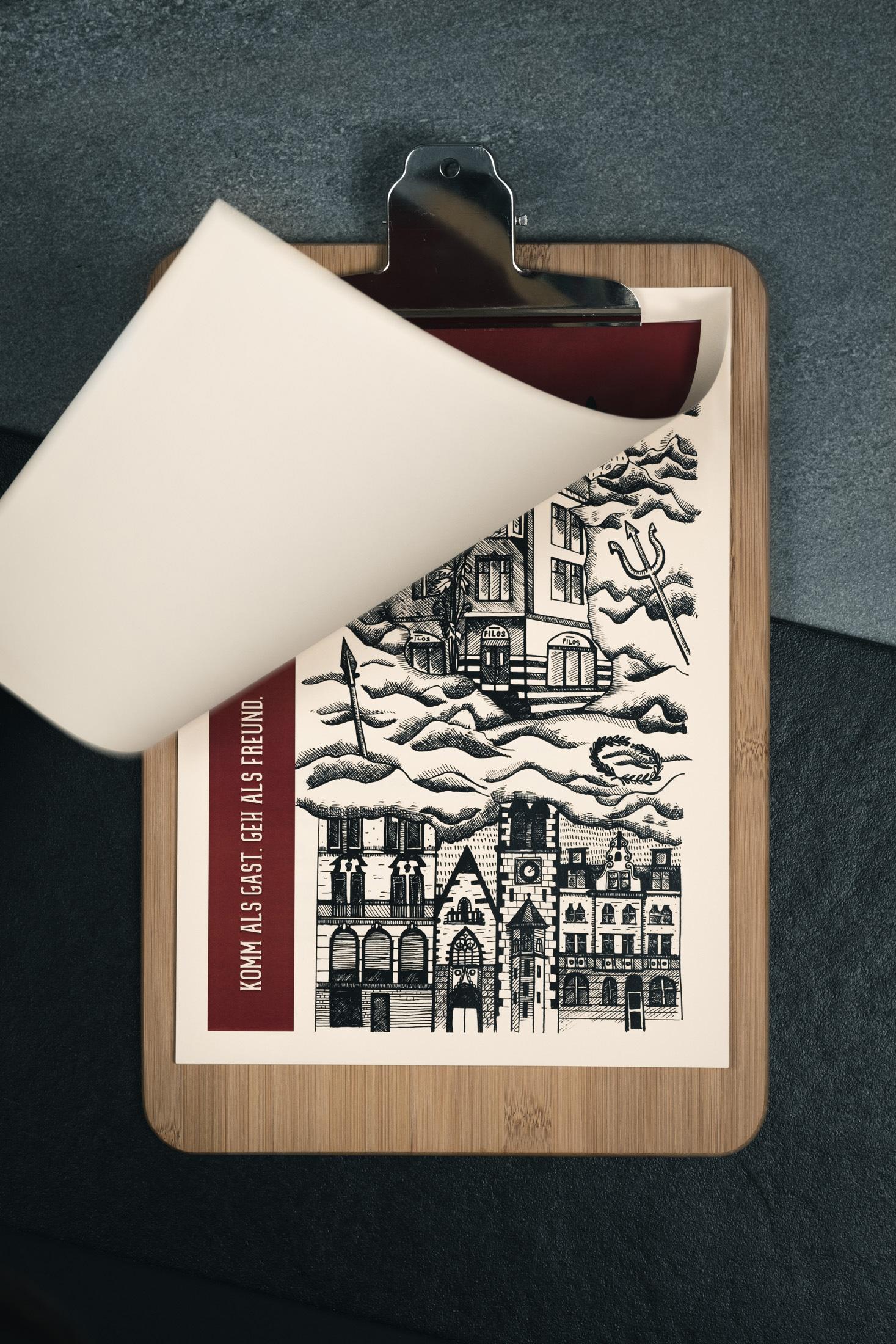 Taverne Filos - Menu Karte