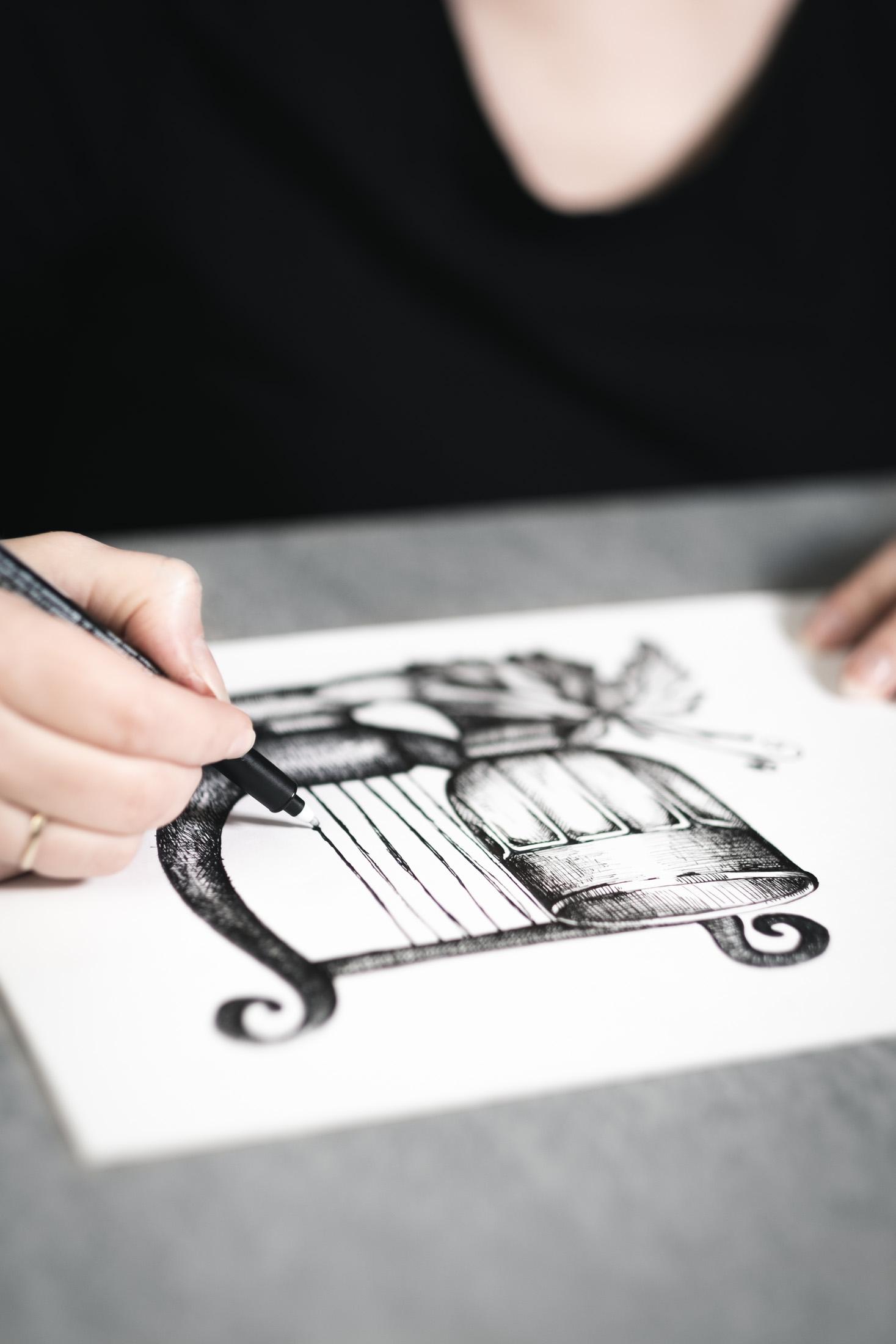 Taverne Filos - Zeichnung