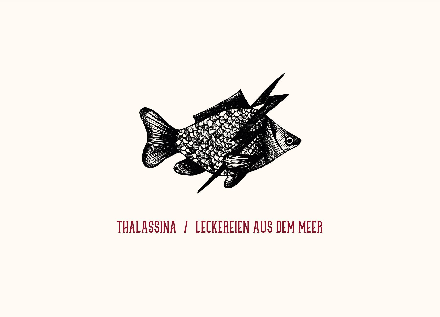 Taverne Filos - Zeichnungen // Leckereien aus dem Meer